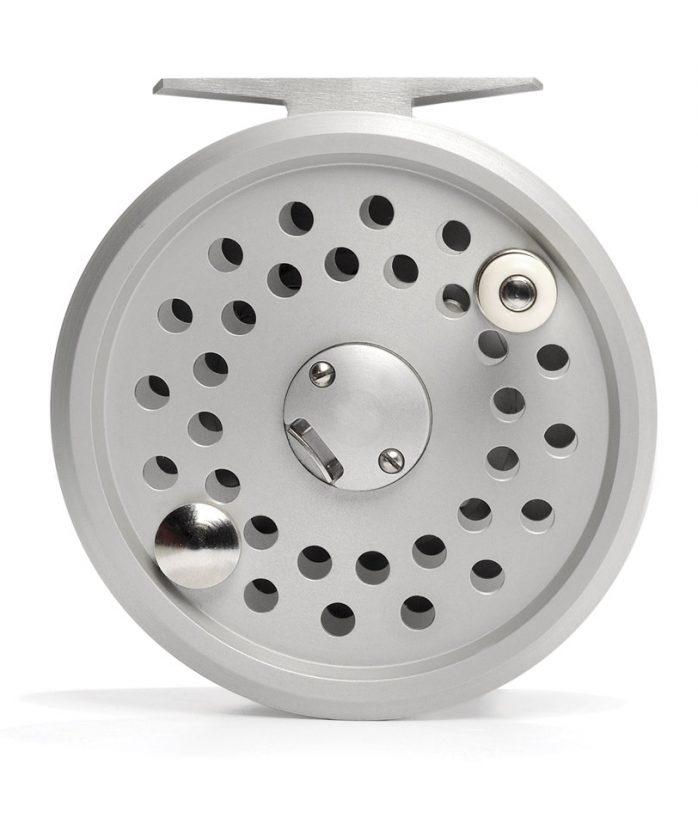 Fly Reel - High Performance Model 38 Disc Drag by Reuben Heaton - Silver Body