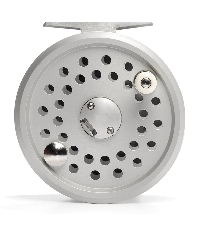 Fly Reel – High Performance Model 38 Disc Drag by Reuben Heaton – Silver Body